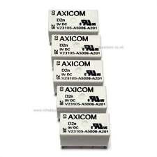 5 X Axicom Relay DPCO 3A 9V 150mW Coil Axicom V23105A