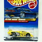 1998 Hot Wheels Flyin Aces Series 3/4 Sol-Aire CX4 Yellow 5 Spoke NMIC #739
