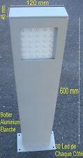 Lot de 2 Bornes Jardin Aluminium,Etanche IP65,,60 Leds Blanc,6W,,220V,,168 Lumen
