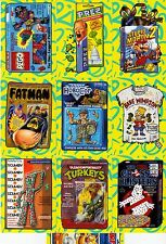 2017 WACKY PACKAGES 50TH ANNIVERSARY BEST OF 90's ALL 10/10 JUMBO BONUS CARD SET
