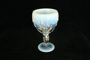 VINTAGE LE NCC CAMBRIDGE GLASS CLEAR OPALESCENT 1999 CASCADE GOBLET MOSSER GLASS