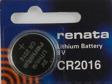 RENATA  CR2016 Lithium Batery 3Volt   - 1Pc