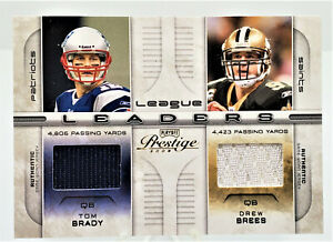 2008 Prestige League Leaders Quad Jersey Card #LL-16 Brady Romo Favre Brees /250
