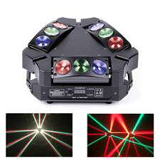 90W 9 Head Bird LEDs Beam RGBW Stage Lighting Sound Lights DMX Mini DJ Party