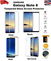 Ultra Thin Clear TPU Gel Case Cover & Tempered Glass For Samsung Galaxy Note 8