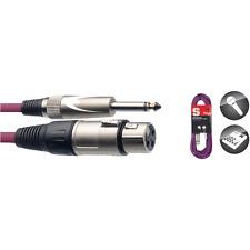 Câble Audio VIOLET XLR vers Jack 6,35 Mono 6 Métres SMC6XP CPP POur Micro