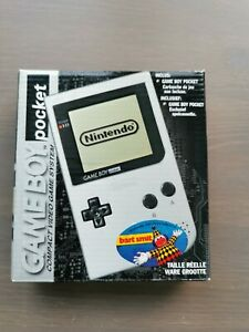 Console Game Boy Pocket Grise en boîte CIB FAH TBE!