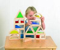 Tickit Wooden Sensory Blocks Set of 16 Construction Building SEN Education Toy