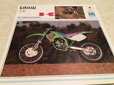 Fiche moto collection Atlas Motorcycle Kawasaki KX 125 1993