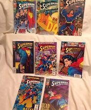 Lot Of 8 -> Superman Man Of Steel Lobo Batman Lex Men DC Comics 1994 W/ Stickers