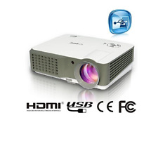 EUG 760 LED Multimedia Hd Cinema Projector 1080p HDMI TV AVG AV Ports