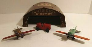 Tootsie Toy No. 5100 Airport with 2 Airplanes and Tractor