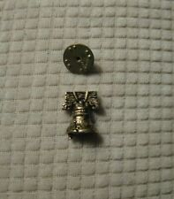 Vintage Liberty Bell Gold/Brass Tone Tie Tack Lapel Pin Perfect Condition