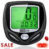 Bike Computer Wireless Waterproof MPH&KM Cycle Speedometer W/ Cycling Taillight