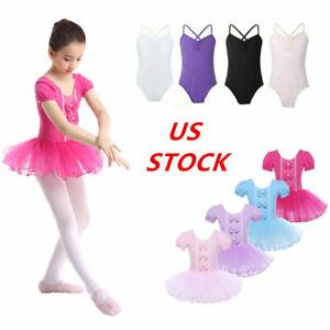 YOOJIA Kids Girls Double Straps Cotton Ballet Dance Leotard Bodysuit Gymnastics Athletic Sports Yoga Tops Dance wear