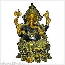 Ganesh Ganesha 30,5 cm 5,8 kg de latón tipo Antik india hinduismo Dios suerte