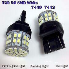 2X T20 7440 White 6000K 5W 1206 50SMD Car LED Wedge Lamp brake light Bulb