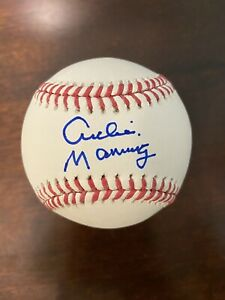 Archie Manning Signed Autographed Rawling Official MLB Baseball ELI PEYTON