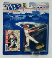 IVAN RODRIGUEZ - Texas Rangers Kenner Starting Lineup MLB SLU 1997 Figure & Card