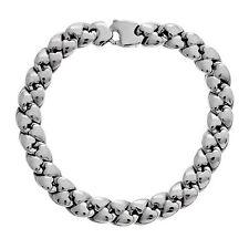 Echte Edelmetall-Armbänder ohne Steine aus Weißgold für Herren