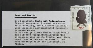 Bund  BRD Michel Nr. 809 mit Andreaskreuz
