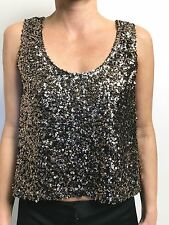 STUNNING NEON HART GOLD SEQUIN SHORT SWING TANK TO SZ SMALL