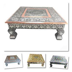"15""x 15"" Hindu Wedding Bajot Bajath Chowki Puja Low Small Table Camping Table"