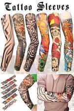 6pcs Set Arm Tattoo Temporary Sleeves Stockings Sunscreen Sleeve Slip Stretchy