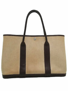 Hermes Garden Party 36 TOILE H (coating process) BUFFLE tote bag #T069