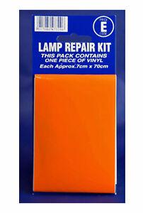 Castle Promotions Car Lamp Repair Kit ORANGE V409 Vinyl Sticker Indicator Lights