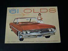 Vintage '61 OLDS Car Dealer Brochure Full Color Skyrocket Engine Fold out
