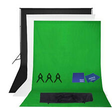 Phot-R 2mx2.6m Stand 3x1.8mx3m Cotton Muslin Background Microfibre Chamois Cloth