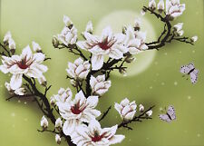 Stickpackung Weiße Magnolien 62x44 cm Magnolia Stickbild Kreuzstich DIY #80175