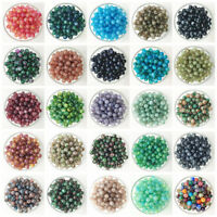 NEW DIY 4/6/8/10mm Glass Round Pearl Spacer Loose Beads Pattern Jewelry Making C