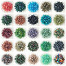 NEW DIY 4/6/8/10mm Glass Round Pearl Spacer Loose Beads Pattern Jewelry Making U