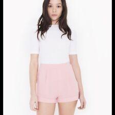 Womens American Apparel Crepecuff Shorts Blossom Peach Size: L