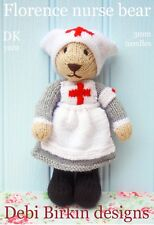 Nurse BEAR toy knitting pattern animal teddy bunny