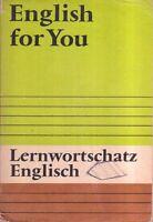 DDR Lehrbuch English for You Lernwortschatz/Verlag Volk und Wissen Berlin 1990