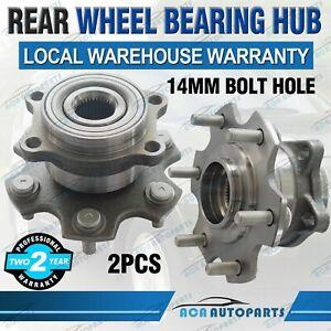 2 X Hubs for Mitsubishi Pajero NS NT NW NX Rear Wheel Bearing Hub Assembly 14mm