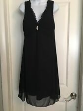 Jump Apparel Dress Womens A Line Summer Little Black Dress Sz 12- Marilyn B6