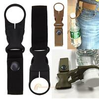 Outdoor Water Bottle Holder Clip Camping Hiking Tactical Carabiner Belt Buckle