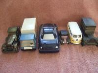 Six Rare Vintage Automobils 2 Piggi Banks - Antic Cars - Van and Truck Models