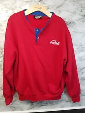 Vintage Coca Cola Sweater Mens The Knit Shirt Exchange XLARGE Embroidered #29