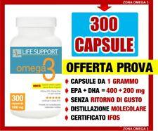 LIFE SUPPORT OMEGA 3 (EPA + DHA) 300 capsule da 1 g (NO OMEGA 3 ENERZONA 240)