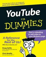 Youtube for Dummies, Paperback by Sahlin, Doug; Botello, Chris, Brand New, Fr...