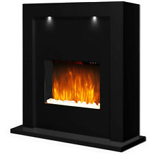 Electric Fire Fireplace Inset Standing Surround LED Lights Lighting Living Room