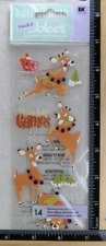 Jolee's REINDEER GAMES Boutique Stickers SANTA'S REINDEER NEW