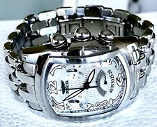 INVICTA LUPAH COLLECTION CHRONOGRAPH SILVERTONE BRACELET WATCH