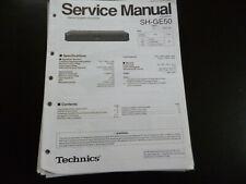 Original Service Manual Schaltplan Technics SH-GE50