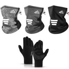 Winter Warm Headgear Men Gloves Touch Screen  Cycling Face Mask Scarf HeadBand